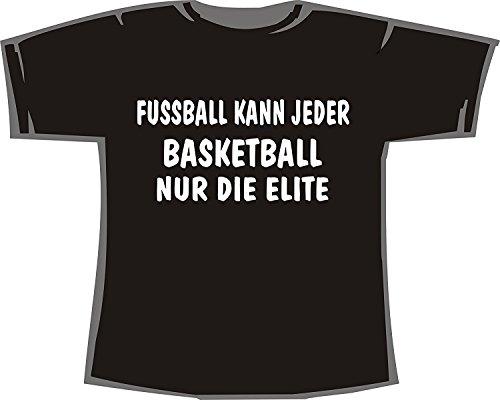 Fussball kann jeder, Basketball nur die Elite; T-shirt schwarz, 52/54; Gr. XXL; Damen