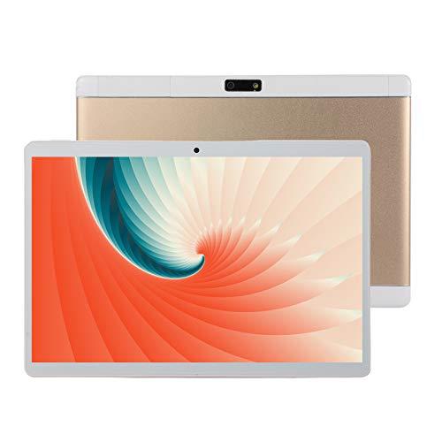 HJGHY Tableta de 10 Pulgadas, Android 8.0 Tabletas de Tarta 1GB RAM 16GB ROM, Quad-Core, Pantalla HD, Cámara Dual, Dual 3G SIM, 8800mAh, WiFi,Oro