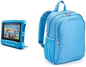 Fire 7 Kids Tablet 32GB Blue with Made for Amazon Kids Tablet Backpack, Blue