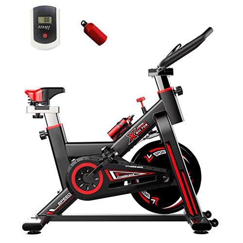 Cyclette Da Interni, Bici A Velocità Variabile Ultra Silenziosa, Carico Massimo 250 Kg, Adatta Per Esercizi Aerobici Familiari,Black Red