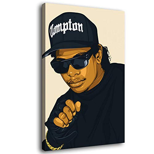 LOPIU Legends Never Die Rap Singer Eazy e Hip-hop Art Canvas Art Poster and Wall Art Picture Print Modern Family Bedroom Decor Posters