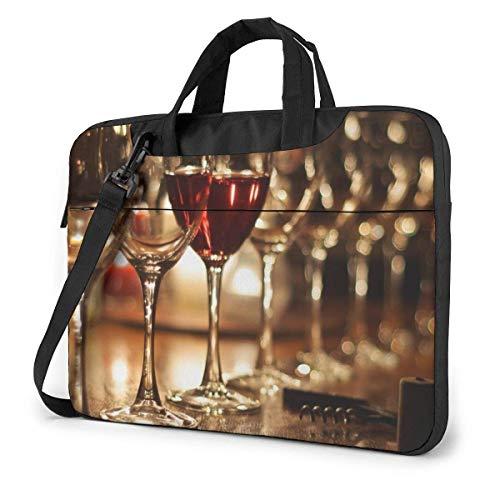 Lawenp Estuche para computadora portátil Bolsa para computadora Funda para manga Copa de vino Maletín impermeable para hombro 13 14 15.6 pulgadas