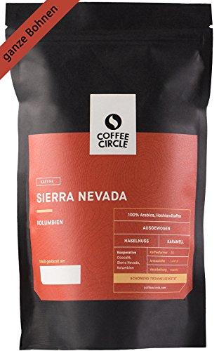 Coffee Circle | Premium Kaffee Sierra Nevada | 350g ganze Bohne | Vollmundiger Bio Filterkaffee aus Kolumbien | 100% Arabica | fair & direkt gehandelt | frisch & schonend geröstet