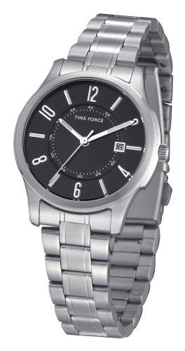 TIME FORCE TF4009L01M - Reloj de Pulsera, Correa de Acero Inoxidable, Color Plateado
