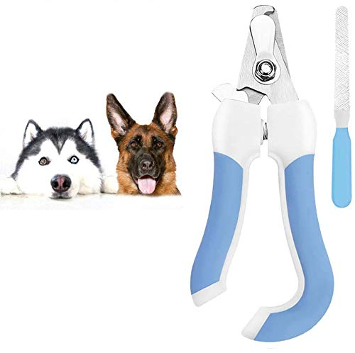 Waliwell Nail Clipper for Dog with File, Stainless Steel Nail Scissors, Professional Nail Trimmer Avoid Over-Cutting with Lock Switch, Sturdy Non Slip Handle, Nail Care for Medium Large Dogs (Large)