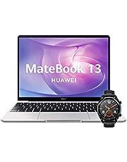 "Huawei Matebook 13 - Ordenador Portátil Ultrafino 13"" 2K (Intel Core i5-10210U, 8GB RAM, 512GB SSD, Windows 10 Home), Mystic Silver + Watch GT Sport Black, Teclado QWERTY Español"