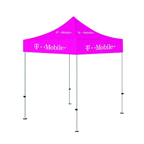 Above All Advertising Best 5 x 5 Portable Outdoor Tent, Pink Portable Canopy Shelter (T-Mobile Printed)