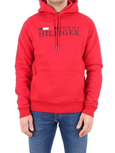 Tommy Hilfiger Herren Basic Hilfiger Hoody Sweatshirt, Rot (Red Xlg), Small