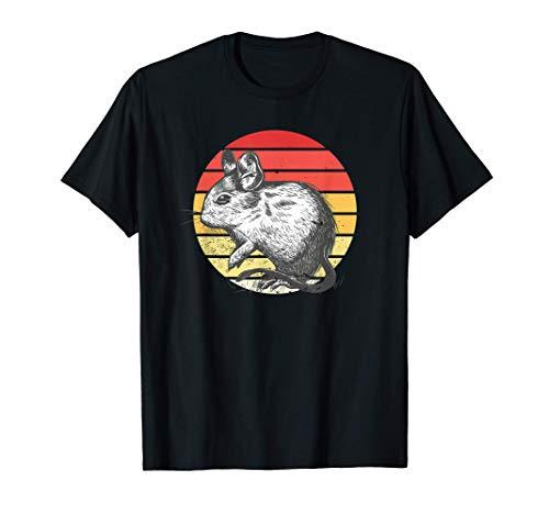 Degu Retro Sunset Roedor Regalo Arbusto Rata Camiseta