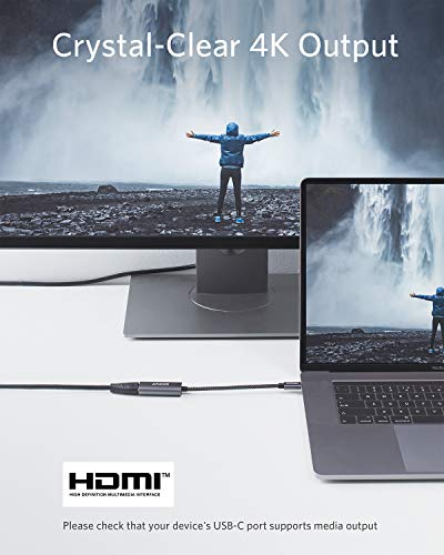 Anker PowerExpand+ USB-C auf HDMI Adapter aus Aluminium, kompakter USB-C Adapter, unterstützt 4K 60Hz, für MacBook Pro, MacBook Air, iPad Pro, Pixelbook, XPS, Galaxy und mehr