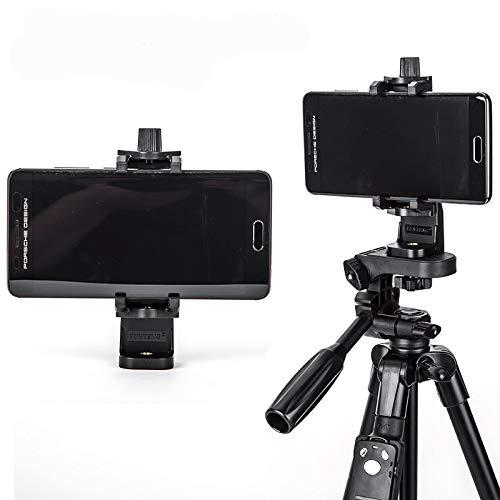 AIREQN Teléfono móvil Clip Selfie Titular Clip del Soporte del trípode de Monopod Soporte Adaptador de Montaje for el Teclado del teléfono multifunción Soportes (Color : Black)