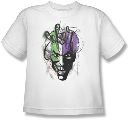 Batman - Joker Airbrush Jugend T-Shirt in Weiß, X-Large (18-20), White