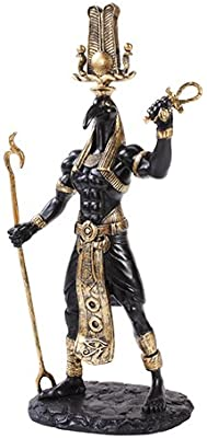 Pacific Giftware Black Thoth Egyptian God Golden Accents Statue 12 inches Tall