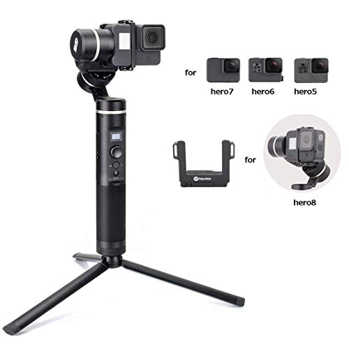 FeiyuTech FY Feiyu G6 3-Axis Splash Proof Handheld Gimbal Updated Version of G5 for GoPro Hero 8/7/6/5/4/3, Yi Cam 4K, AEE Action Cameras of Similar Size with EACHSHOT Mini Tripod