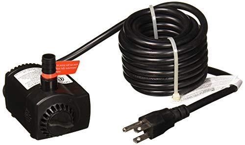 AQUANIQUE 52553 Auto-Off Fountain Pump, Black