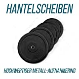 Just Hantelscheiben – 1 bis 10 kg lieferbar mit 30/31 mm Bohrung, Gummi - Bodybuilding Gewichtsscheibe Home Training (0,5 kg)