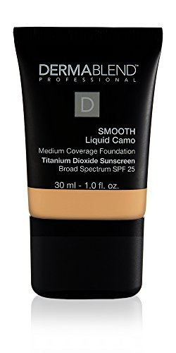 Dermablend Smooth Liquid Camo Foundation for Dry Skin with SPF 25, 30N Camel, 1 Fl Oz