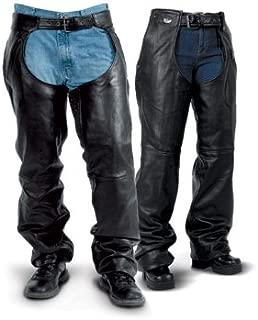 Milwaukee Motorcycle Clothing Company Crazy Horse Unisex Chap Distressed Black, XX-Large