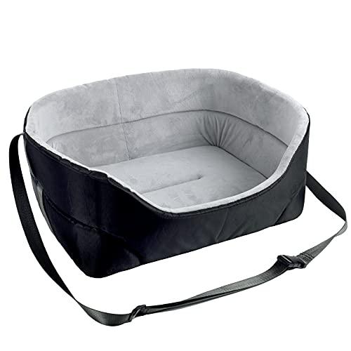 NIBESSER Hondenautostoel, wasbaar, autostoel en bed voor honden, stabiel, waterdicht, hondenbed, universele hondenautostoel voor achter- en voorstoel