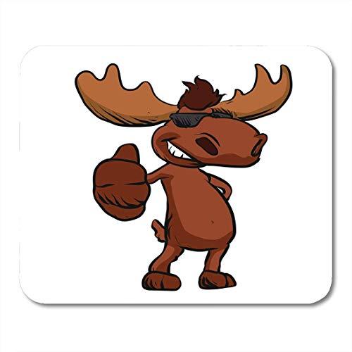 Mauspad Brown Elk niedlichen Elch Cartoon winken glücklich lustige Maskottchen Mousepad für Notebooks, Desktop-Computer-Mauspads, Office Supplies 10 x 12 Zoll