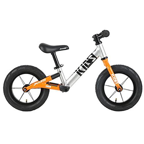 Bicicletas sin Pedales, Bicicleta para Bicicletas De Balance De Niños Pequeños, Sin Pedal De 12 Pulgadas Scooter De Dos Ruedas, Cochecito De Scooter De Caminar Ligero para Bebé De 2-6 (Color:Naranja)