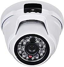 Eversecu 2.4MP (HD-TVI/AHD/CVI/Analog) 4-in-1 1080P CMOS Outdoor Metal Dome Camera, Day Night Vision Security IR Analog Camera, Vandalproof Dome Camera for Home Video Surveillance