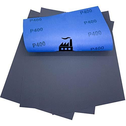 100x Dipoxy - Wasserfestes Schleifpapier P400 Bogen 230 x 280 mm für den Nassschliff