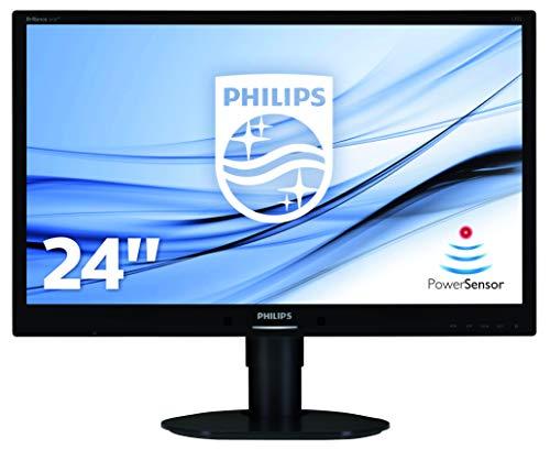 Philips 241B4LPYCB/00 61 cm (24 Zoll) Monitor (VGA, DVI, USB, DisplayPort, 1920 x 1080, 60 Hz, Pivot) schwarz