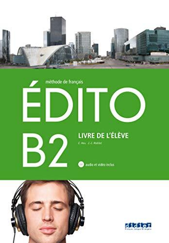 EDITO B2 ELEVE+CD+DVD - 9788490492055 (Nouvel Edito)