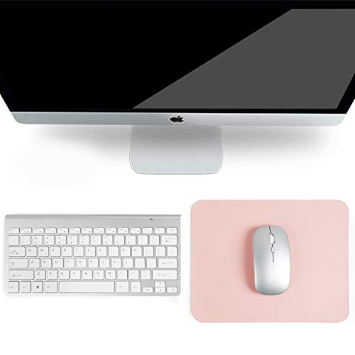 YSAGI 2 Pack Mouse Pads, Ultra Thin Waterproof PVC Leather Mouse Pad,Stitched Edges,Works for Computers, Laptop,All Types of Mouse pad, Office/Home(7.87''×9.84'', 2 Pack,Pink) Photo #5