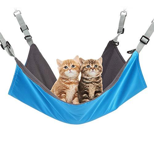 Fanville Kat hangstoel opknoping zacht huisdier bed koel/warme mat met verstelbare riem slapen rustkussen kat hangmatten bed