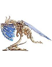 UGEARS Unique Puzzle 3D - Dragon des Tempêtes de Vent Maquette en Bois à Construire - Puzzle 3D Bois avec Moteur Elastique - Construction Bois - Maquette Bois Casse-Tête Adultes et Enfants 8+