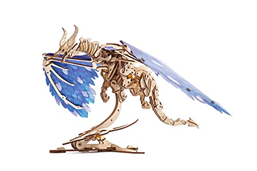 UGEARS Windstorm Dragon 3D Puzzle - Self-Assembly 3D Wooden Puzzles for Adults and Kids - Realistic...