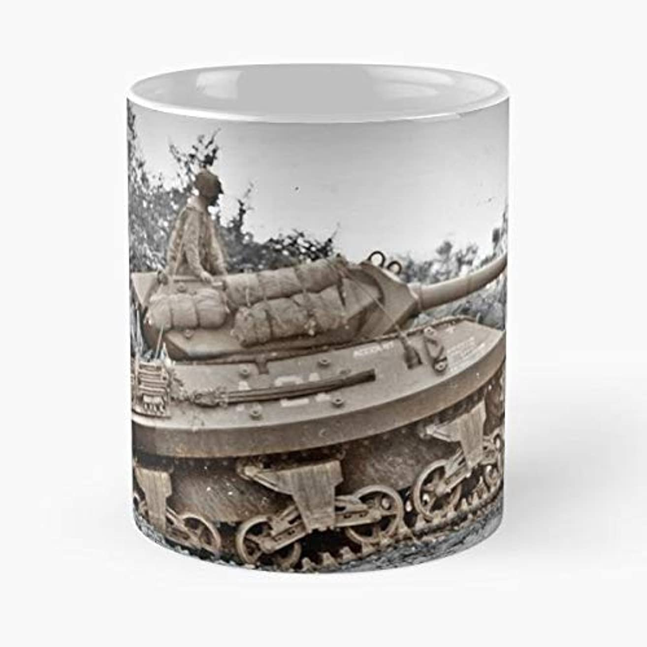 Sherman Tanks Soldiers Equipment D Day Destroyers Funny Floral Coffee Mugs Gifts