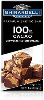 Ghirardelli Premium Baking Bar, 100% Cacao Unsweetened Chocolate, 4 oz