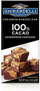 Ghirardelli 100% Cacao Unsweetened Chocolate Premium Baking Bar, 4 oz
