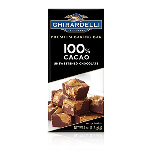 Ghirardelli Premium Baking Bar, 100% Cacao Unsweetened Chocolate, 4 oz