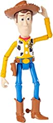Disney Pixar Toy Story 4 Sheriff Woody figure in movie-inspired relative scale.  Highly posable for exciting action storytelling.  Choose the full variety of character friends in classic costumes for expanded movie play (each sold separately, subje...