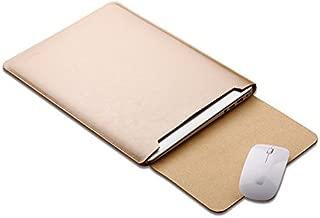 YKDY Laptop Microfiber Leather Inner Bag for MacBook 12 inch (Black) (Color : Gold)