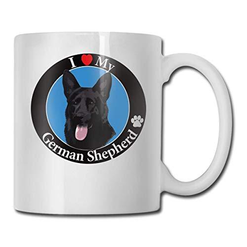 Lustige Kaffeetasse Ich liebe meinen deutschen Schäferhund Kaffee-Teetasse Einzigartiges Festival-Geburtstagsgeschenk für Männer...