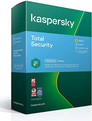 Kaspersky Total Security 2021 Standard | 3 Geräte | 1 Jahr | Windows/Mac/Android | Aktivierungscode in Standardverpackung