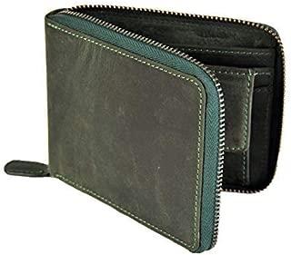 RAS da uomo RFID Blocco Vera Pelle Ultra Slim Bifold Wallet 122 Nero