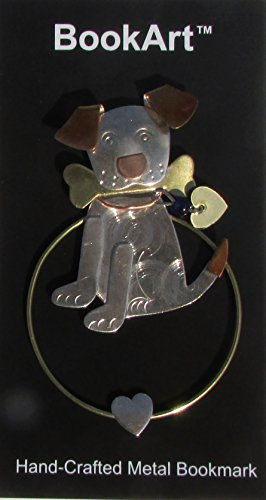 BookArt Dog Bookmark - Beautiful Metal Bookmark - Best Gifts & Stocking Stuffers for Men Women Teachers & Librarians!