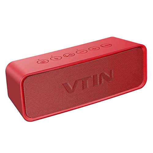 Vtin R2 Bluetooth Speaker, Portable Bluetooth Speakers w/DSP Bass Technology, 14W Powerful Speaker for HD Sound, 24H Playtime, IPX6 Waterproof Outdoor Speaker Built in Mic for Home and Outdoors