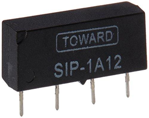 sourcingmap® DC 12V Offen Style 4-polig SIP-1A12 4-polig Dry Reed Relais Schwarz de
