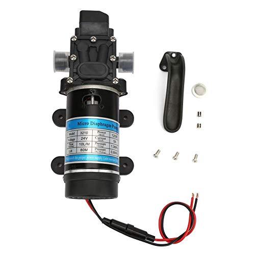 Membranpumpe, 12V / 24V 120W elektrische Wasserpumpe Selbstansaugende Pumpe für Hochdruckreiniger für Wasserspray, Pestizidspray, Gartenbewässerung(24V 3210YD-24-120FS)