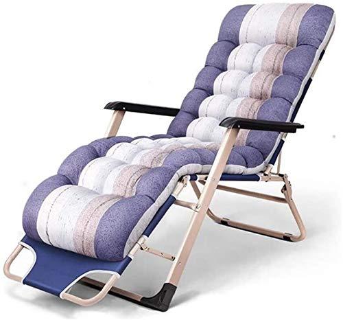 Sillón Reclinador de sillones de salón reclinable reclinable, cero gravedad reclinable plegable con reposabrazos para siesta interior perezoso ocio silla de ocio al aire libre viajes playa cubierta de