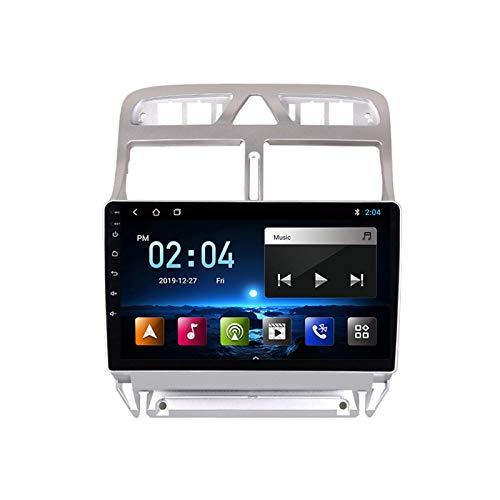 2 DIN Car Stereo 9 Pulgadas HD Pantalla Táctil Soporte Llamadas Manos Libres/Navegación GPS/Cámara De Visión Trasera/1080P Video, para Peugeot 307 2002-2013 Radio De Coche,Quad Core,WiFi 1+16