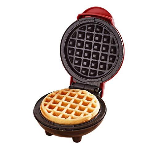 YIHGJJYP Waffles Piastra Mini Waffle Maker Classic Antiaderente Colazione Panini Fa Macchina Individuale Rotonde Cucina Portatile apparecchi di Cottura