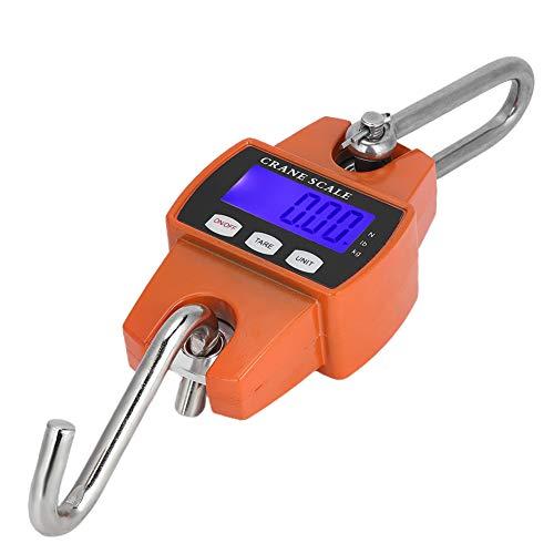 Báscula de grúa - Báscula de grúa industrial de 300 KG Báscula de peso colgante de gancho electrónico digital LCD para equipaje grande